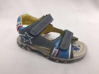 Сиви детски сандали за момчета.
