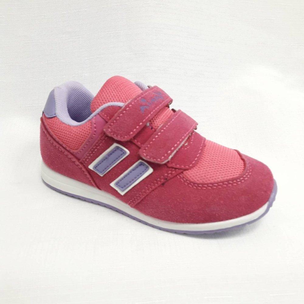 Розови детски маратонки с лепенки.