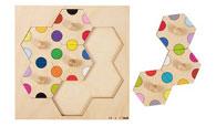 Пъзел: Цветни точки